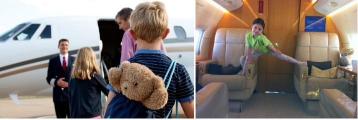 аренда частного самолета для полета ребенка без родителей