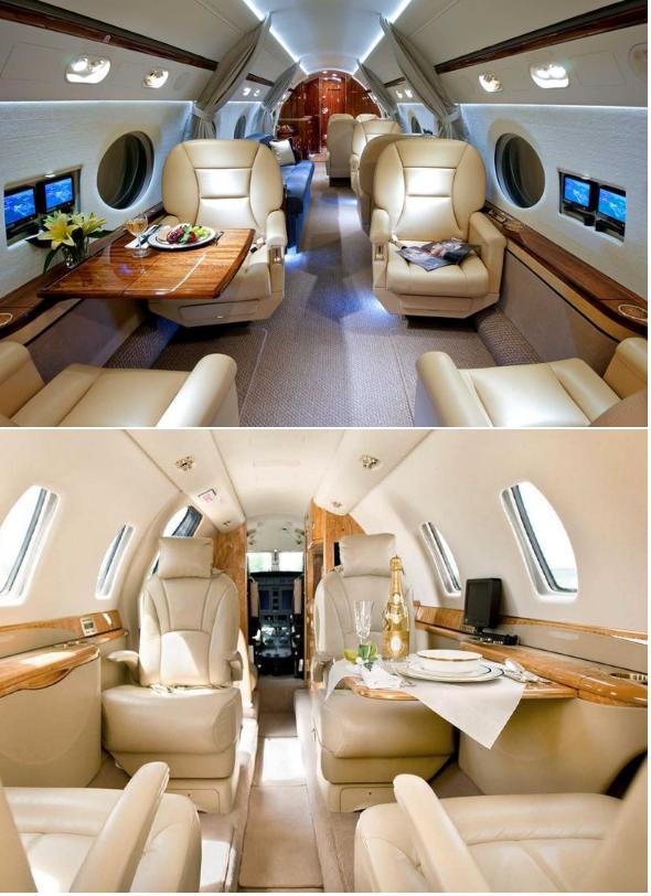 частный рейс на бизнес джете