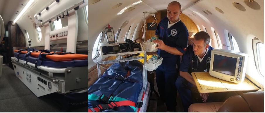 аренда частного самолета для перевозки лежачего больного