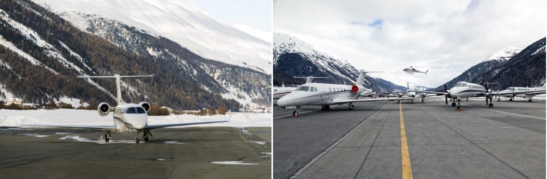 частный самолет на горнолыжный курорт Шамбери